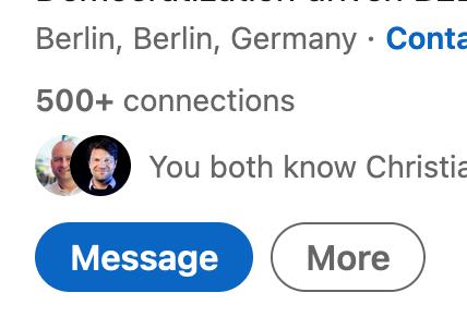 Berlin. Berlin example from LinkedIn