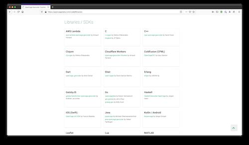 OpenCage geocoding API SDKs