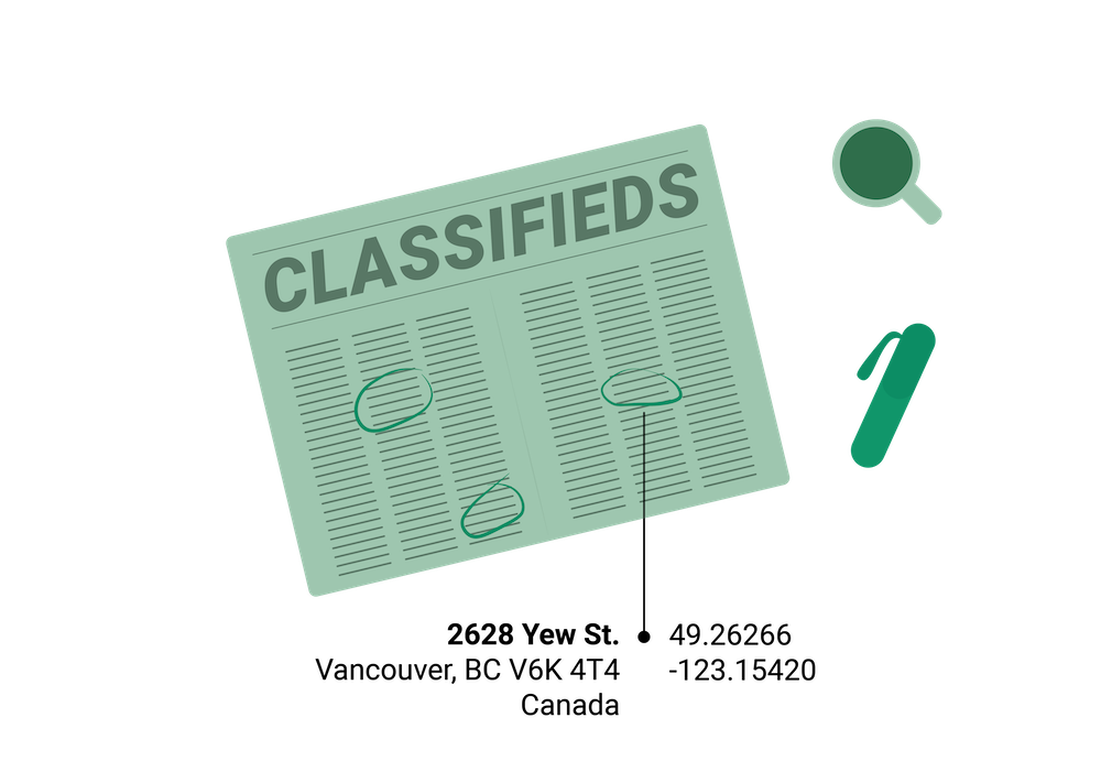 geocoding for classifieds